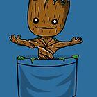Lil pocket Groot by absolemstudio