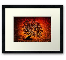 Psychedelic Tree of Life Framed Print