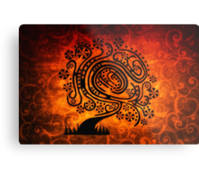Psychedelic Tree of Life Metal Print