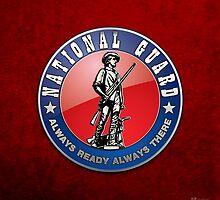 US National Guard (NG) Emblem 3D on Red Velvet by Captain7