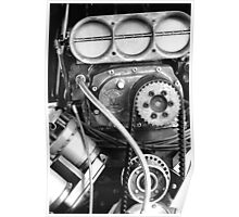 Top Fuel in Black and White Poster