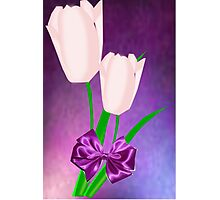 2 Pink Tulips (7464 Views) Photographic Print
