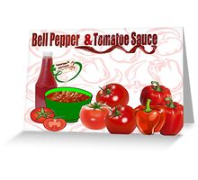 Bell Pepper & Tomato Sauce (3831 Views) Greeting Card