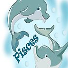 Pisces I Phone case rubber Dolphin (13641  Views) by aldona