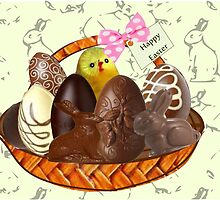 Chocolate Easter egg Card ( 2341  Views) by aldona