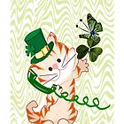 Kitty on St.Patrick's day Iphone case (1269 Views) by aldona