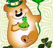 Teddy With St. Patrick's Greeting (1307 Views) by aldona
