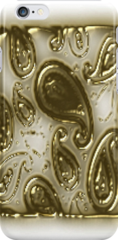 Gold pattern I phone Case (920 views) by aldona