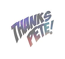 Thank you, Peter. Photographic Print