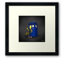 Doctor Lemongrab (Adventure Time + Doctor Who) Framed Print