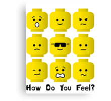 'How Do You Feel?' by Customize My Minifig  Canvas Print