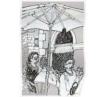 Italy-A Snack Bar in Firenze Poster