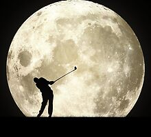 Golfing At Night by Phil Perkins