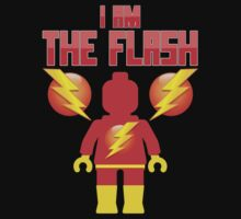 'I am The Flash' Minifig [Medium] by Customize My Minifig by ChilleeW