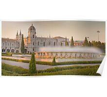 Praça do Império. Mosteiro dos Jerónimos. sunset Poster