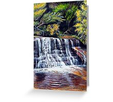 Cascades, Blue Mountains Greeting Card