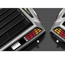 Poster artwork - DeLorean DMC-12 by RJWautographics