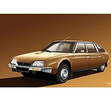 Poster artwork - Citroen CX 2000 by RJWautographics