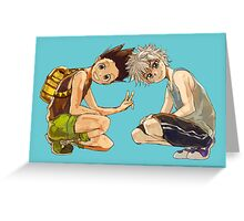 HxH - Gon & Killua Greeting Card