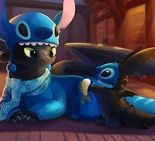 Toothless and Stitch by Harry Timmons