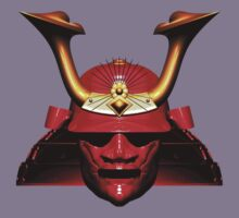 Red Kabuto (Samurai helmet) T-shirts and Stickers Kids Clothes