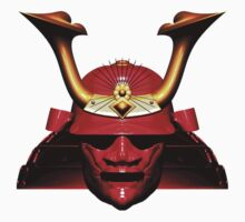 Red Kabuto (Samurai helmet) T-shirts and Stickers by Steve Crompton