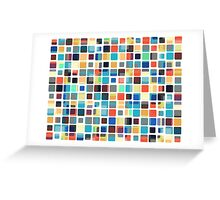 Colorful Tile Pattern Greeting Card