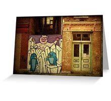 Hidden Door, Boarded Window Greeting Card