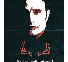 Hannibal - 'Well tailored person suit' poster by Bradley Townend