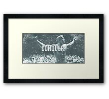 Conquer Faded. Framed Print