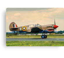 "Curtiss P-40E Kittyhawk Ia N94466 AK933/UE-S ""Sneak Attack"" Canvas Print"