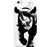 Half Tone Rhinoceros iPhone Case/Skin