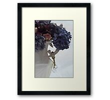 Blue Hydrangeas - Digital Gouache Framed Print