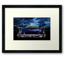 57 blue Framed Print