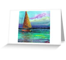 Sailboat Cruise Greeting Card