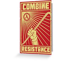Combine Resistance Greeting Card