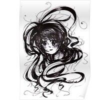 Lost In Dark Hair Poster