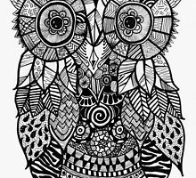 Zentangle Owl by Miguel Sarmiento Perea