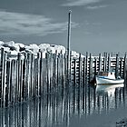 Margaretsville Wharf - selective color by PhotosByHealy