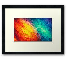 Abstract Multi Color Cubizm Painting Framed Print