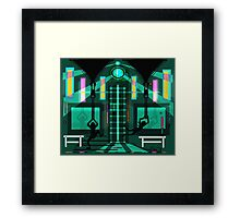 Two zippers Framed Print