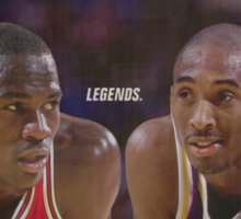 "Jordan vs. Kobe ""LEGENDS"" Sticker"