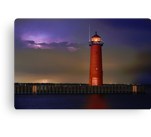 Lightning Lighthouse Canvas Print