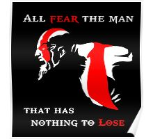 God of War Fear The Man Poster
