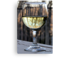 Reflecting Winter Shades of Brown ~ Wine Canvas Print