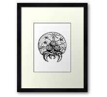 Metroid traditional Ink'd Framed Print