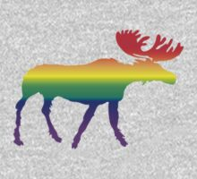 Rainbow Pride Moose by J  Nasty