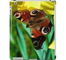 Daffodil with Peacock Butterfly iPad Case/Skin