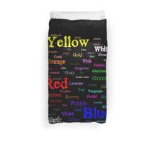 Splattered Rainbow Word Cloud  Duvet Cover