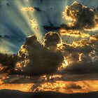 Sunrise sunrays, Ovens Valley by Kevin McGennan